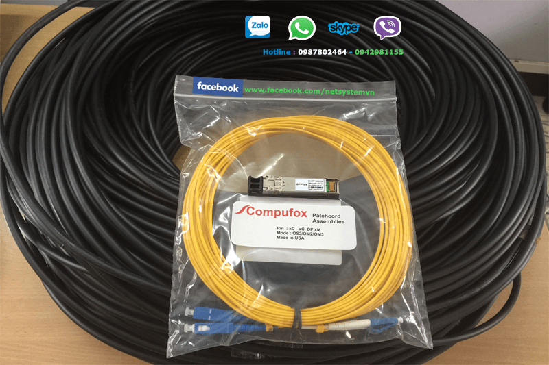 Cáp quangAMP Fiber Optic Cable, Outside Plant, 4-Fiber, OS2, Dielectric Jacket (FO CABLE, OSP, 4F, SM, OS2)