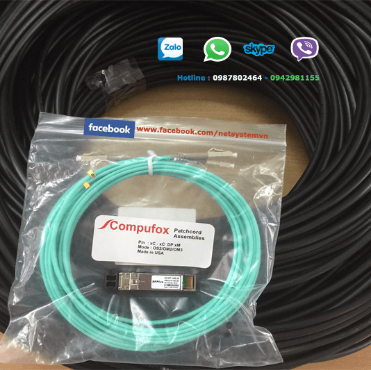 Cáp quang AMP multimode 4 sợi OM3, Fiber Optic Cable, Outside Plant, OM3, Dielectric Jacket 1-1427449-3 (FO CABLE, OSP, 4F, OM3 50/125)