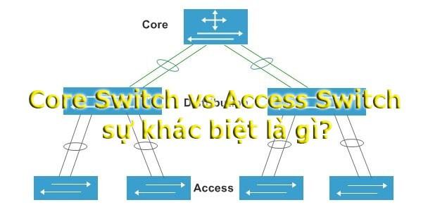 Core Switch vs Access Switch: Sự khác biệt là gì?
