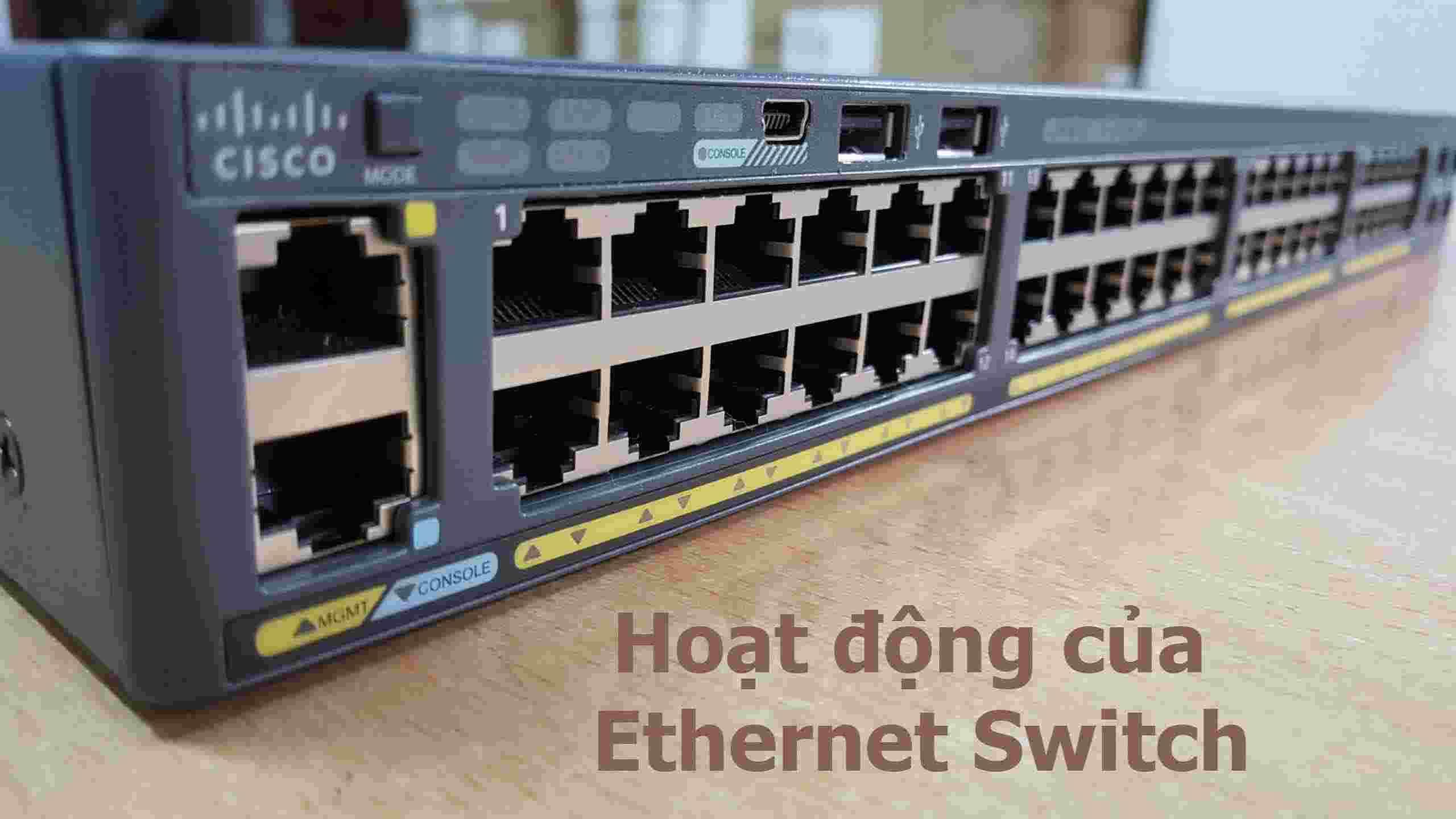 Hoạt động của Ethernet Switch