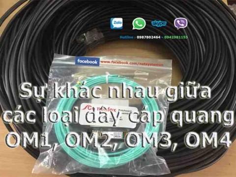 So sánh các loại dây cáp quang multimode OM1, OM2, OM3, OM4