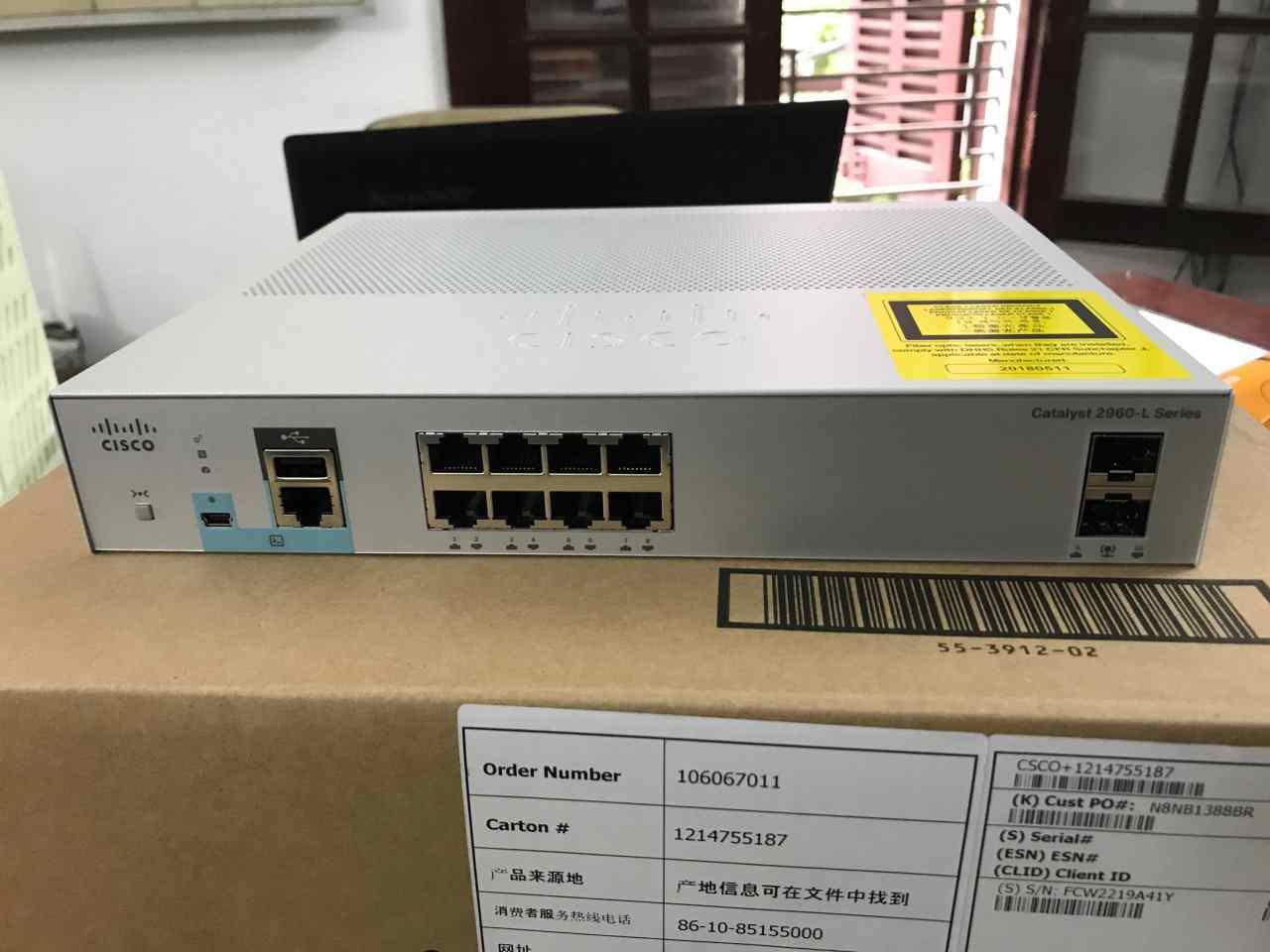 Phân phối switch cisco 8 ports poe chính hãng