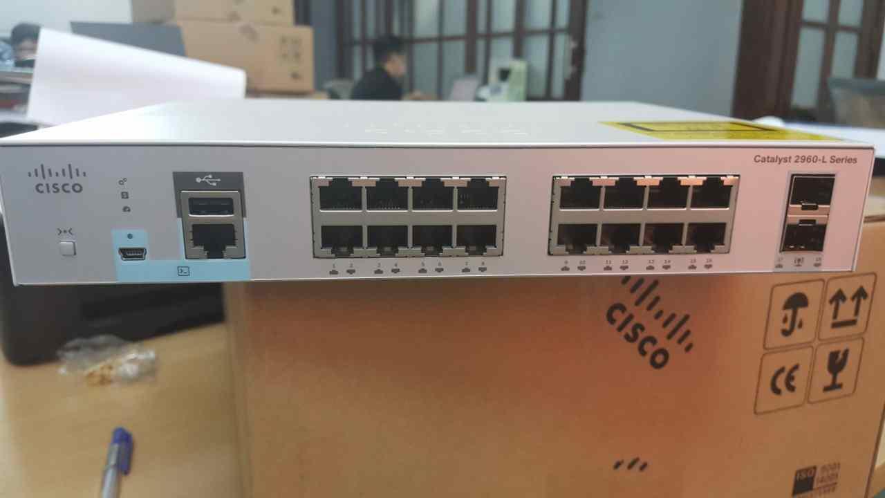 Phân phối switch poe 16 port cisco chính hãng