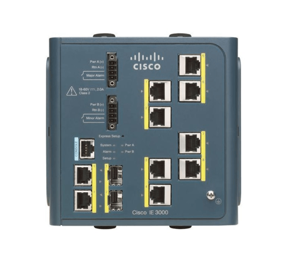 IE300-8TC Cisco IE 3000 Switch, 8 10/100 + 2 T/SFP