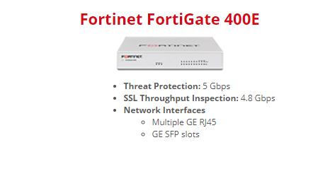 Thiết bị tường lửa Firewall Fortigate 400E